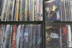 Λαθρεμπορικό DVDs στην Κίνα Στοκ φωτογραφία με δικαίωμα ελεύθερης χρήσης