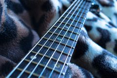 Λαιμός και σειρές κιθάρων Στοκ Εικόνες