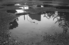 Λακκούβες βροχής Στοκ φωτογραφία με δικαίωμα ελεύθερης χρήσης