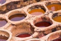 λακκούβες χρωστικών ουσιών fes Στοκ Φωτογραφία