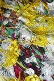 Λαμπιρίζοντας ασημένιο χρυσό ρόδινο πράσινο χρώμα watercolor κτυπημάτων βουρτσών Αφηρημένο υπόβαθρο χρωμάτων Watercolor Στοκ φωτογραφία με δικαίωμα ελεύθερης χρήσης