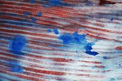 Λαμπιρίζοντας ενεργητικά μπλε κόκκινα ασημένια σημεία watercolor χρωμάτων σύστασης σημείων Στοκ φωτογραφία με δικαίωμα ελεύθερης χρήσης