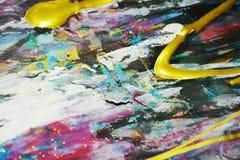 Λαμπιρίζοντας ζωηρόχρωμο υπόβαθρο watercolor χρωμάτων, κτυπήματα βουρτσών, οργανικό υπνωτικό υπόβαθρο Στοκ φωτογραφία με δικαίωμα ελεύθερης χρήσης