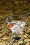 Λαμπιρίζοντας ποτό στον πάγο με τα φρούτα Στοκ Φωτογραφία