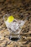 Λαμπιρίζοντας ποτό στον πάγο με τα φρούτα Στοκ Φωτογραφίες