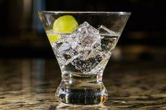 Λαμπιρίζοντας ποτό στον πάγο με τα φρούτα Στοκ φωτογραφίες με δικαίωμα ελεύθερης χρήσης