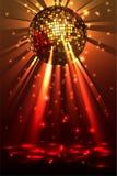 Λαμπιρίζοντας σφαίρα disco Κόμμα νύχτας ελεύθερη απεικόνιση δικαιώματος