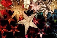Λαμπρά αστέρια Χριστουγέννων Στοκ εικόνες με δικαίωμα ελεύθερης χρήσης