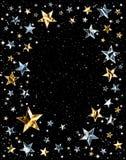 λαμπρά διαστημικά αστέρια διανυσματική απεικόνιση