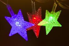 Λαμπρά διακοσμητικά αστέρια Στοκ φωτογραφίες με δικαίωμα ελεύθερης χρήσης