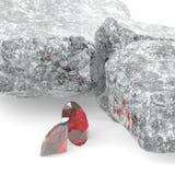 Λαμπρά διαμάντια και δύσκολη τρισδιάστατη απεικόνιση λίθων Στοκ φωτογραφία με δικαίωμα ελεύθερης χρήσης