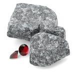 Λαμπρά διαμάντια και δύσκολη τρισδιάστατη απεικόνιση λίθων Στοκ εικόνες με δικαίωμα ελεύθερης χρήσης
