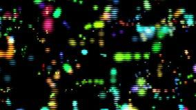 Λαμπρά μόρια χρώματος με το ψηφιακό αφηρημένο υπόβαθρο βρόχων πλέγματος κινούμενο διανυσματική απεικόνιση