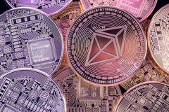 Λαμπρά νομίσματα Ethereum Στοκ φωτογραφία με δικαίωμα ελεύθερης χρήσης