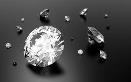 Λαμπρά τρισδιάστατα διαμάντια Στοκ Εικόνα