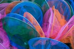 Λαμπρά χρωματισμένα δίχτυα πεταλούδων στοκ εικόνες