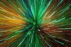Λαμπρά χρωματισμένες ελαφριές ραβδώσεις που δίνουν μια πραγματικά ισχυρή αίσθηση της μετακίνησης και της δύναμης, και που δείχνου Στοκ φωτογραφίες με δικαίωμα ελεύθερης χρήσης