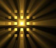 Λαμπρές ελαφριές τετραγωνικές φλόγες φωτοστεφάνου ήλιων πλέγματος διανυσματική απεικόνιση