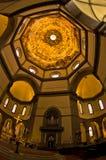 Λαμπρές καλλιτεχνικές λεπτομέρειες σε έναν θόλο του καθεδρικού ναού της Σάντα Μαρία del Fiore στη Φλωρεντία, Τοσκάνη Στοκ εικόνα με δικαίωμα ελεύθερης χρήσης