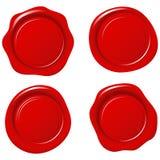 Λαμπρές κόκκινες σφραγίδες κεριών Στοκ φωτογραφία με δικαίωμα ελεύθερης χρήσης