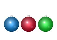 Λαμπρές σφαίρες Χριστουγέννων διανυσματική απεικόνιση