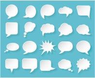 Λαμπρές φυσαλίδες της Λευκής Βίβλου για την ομιλία σε ένα μπλε υπόβαθρο Στοκ φωτογραφία με δικαίωμα ελεύθερης χρήσης