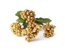Λαμπρές χρυσές σφαίρες, λουλούδια στοκ φωτογραφίες