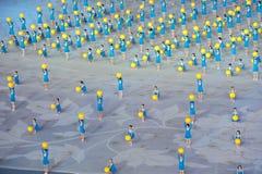 Λαμπρή ελπίδα: η έβδομη εθνική πρόβα τελετής έναρξης παιχνιδιών πόλεων Στοκ φωτογραφία με δικαίωμα ελεύθερης χρήσης