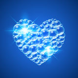 Λαμπρή καρδιά των φυσαλίδων Στοκ φωτογραφία με δικαίωμα ελεύθερης χρήσης