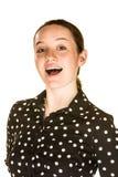 Λαμπρή νέα γυναίκα Στοκ Φωτογραφίες