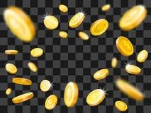 Λαμπρή χρυσή έκρηξη νομισμάτων μειωμένα χρήματα Διανυσματική έννοια απεικόνισης διανυσματική απεικόνιση