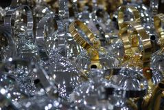 Λαμπροί χρυσός και ασήμι λοβών καφέ ύφους δοχείων τσαγιού αραβικοί Στοκ εικόνες με δικαίωμα ελεύθερης χρήσης