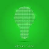 Λαμπρός άσπρος βολβός στο πράσινο υπόβαθρο ελεύθερη απεικόνιση δικαιώματος