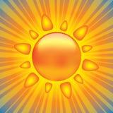 λαμπρός ήλιος στοιχείων σχεδίου απεικόνιση αποθεμάτων