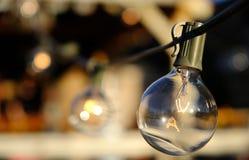 Λαμπρός βολβός φω'των Χριστουγέννων Στοκ Φωτογραφία