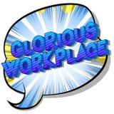 Λαμπρός εργασιακός χώρος - λέξεις ύφους κόμικς απεικόνιση αποθεμάτων