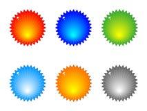λαμπρός Ιστός κουμπιών απεικόνιση αποθεμάτων