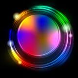 Λαμπρός κύκλος στη σκοτεινή ανασκόπηση απεικόνιση αποθεμάτων