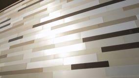 Λαμπρός μεταλλικός χρυσός τοίχος χρώματος να στηριχτεί στην οδό απόθεμα βίντεο