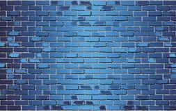 Λαμπρός μπλε τουβλότοιχος - απεικόνιση διανυσματική απεικόνιση