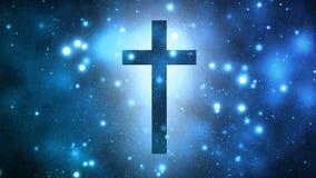 Λαμπρός σταυρός λατρείας διανυσματική απεικόνιση