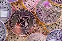 Λαμπρός σωρός νομισμάτων Ethereum Στοκ εικόνα με δικαίωμα ελεύθερης χρήσης