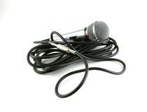 λαμπρός το μακρύ μικρόφωνο Στοκ Εικόνες