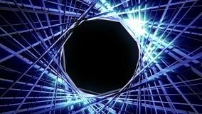 Λαμπρός τρισδιάστατος κύκλος HD γραμμών διανυσματική απεικόνιση
