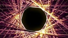 Λαμπρός τρισδιάστατος κύκλος 4K γραμμών διανυσματική απεικόνιση