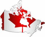 Λαμπρός χάρτης του Καναδά διανυσματική απεικόνιση