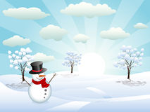 λαμπρός χειμώνας ημέρας διανυσματική απεικόνιση