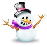 λαμπρός χιονάνθρωπος Στοκ Φωτογραφία