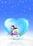 λαμπρός χιονάνθρωπος Στοκ φωτογραφίες με δικαίωμα ελεύθερης χρήσης