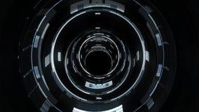 Λαμπρός ψηφιακός σφυγμός κυμάτων κυβερνοχώρου κινήσεων γραφικής παράστασης ζωτικότητας δροσερό σε συμπαθητικό ύφους ποιοτικού tec απόθεμα βίντεο